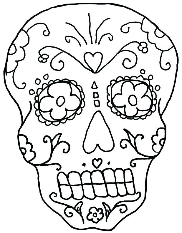 618x793 Sugar Skull Coloring Book Awesome Sugar Skull Coloring Pages