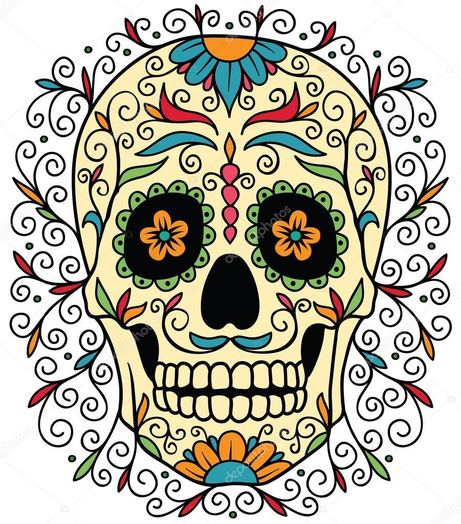 901x1024 Sugar Skull Stock Vectors, Royalty Free Sugar Skull Illustrations