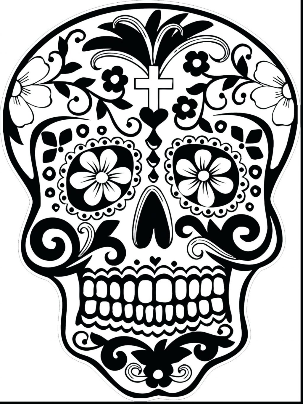 1024x1364 Coloring Pages ~ Sugar Skulls Coloring Pages Awesome Day Of Dead