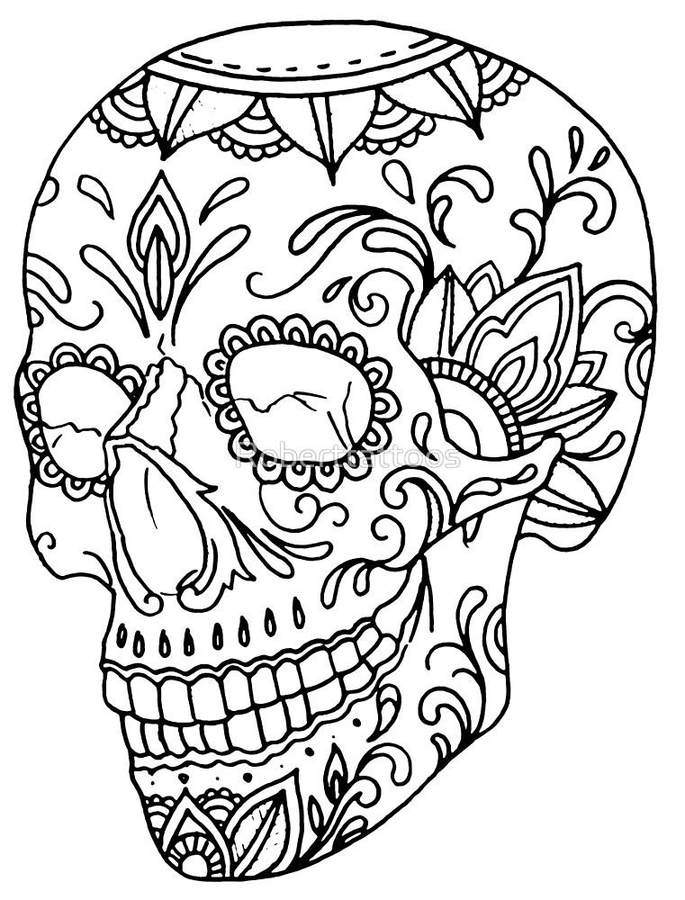 761x1000 Sugar Skull By Roberttattoos Redbubble