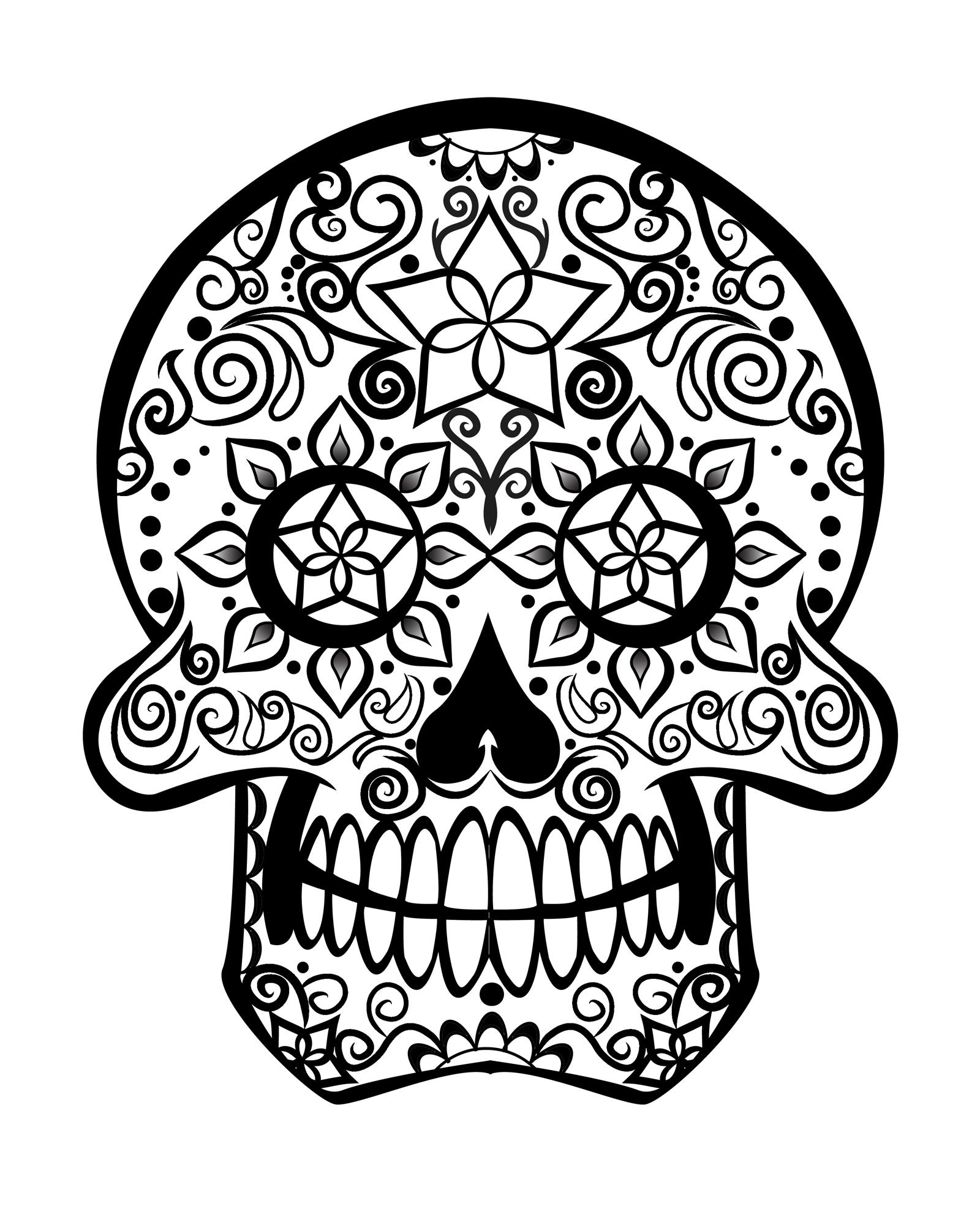 Sugar Skull Pin Up Drawing at GetDrawings | Free download