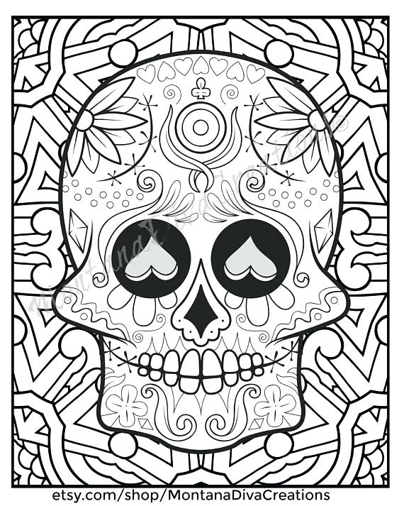 570x713 Digital Coloring Pages Adult Coloring Books Digital Download Print