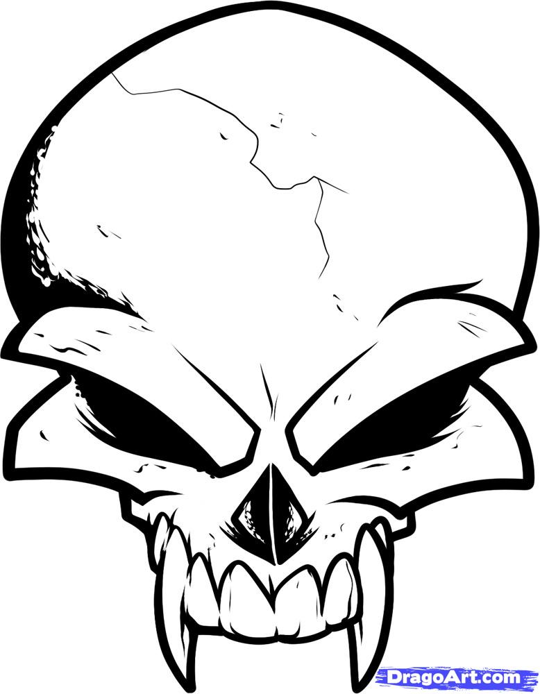 778x1000 Drawn Skull Easy