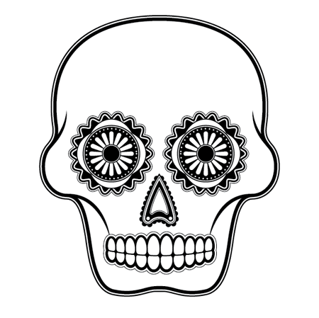 450x449 How To Create A Detailed Vector Sugar Skull Illustration Sugar