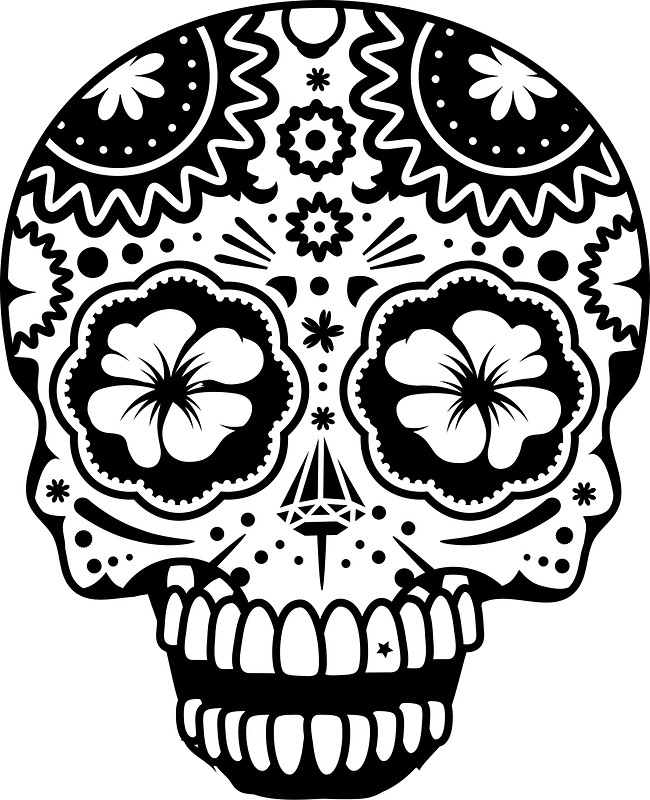 650x800 A Laughing Sugar Skull Stickers By Kisho Redbubble