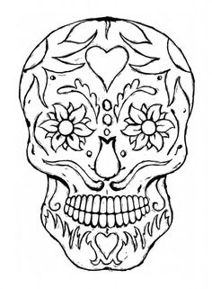 236x321 How To Draw A Sugar Skull Easy, Step By Step, Skulls, Pop Culture