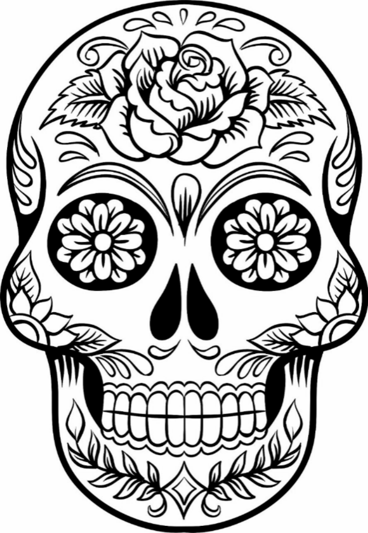 728x1054 Printable Sugar Skull Coloring Pages Kids Colouring Pages