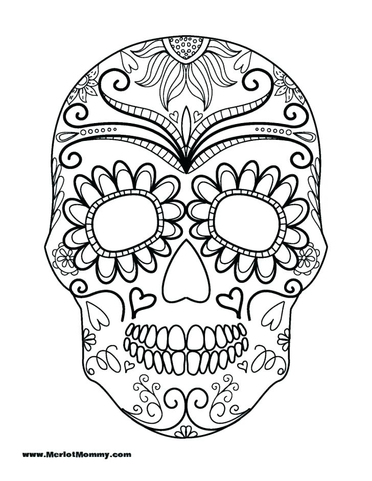 728x942 Skull Coloring Pages Skull Coloring Pages For Kids Sugar Skull