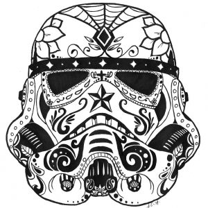 300x300 Adult Drawing A Sugar Skull Drawing A Candy Skull. Drawing A Sugar