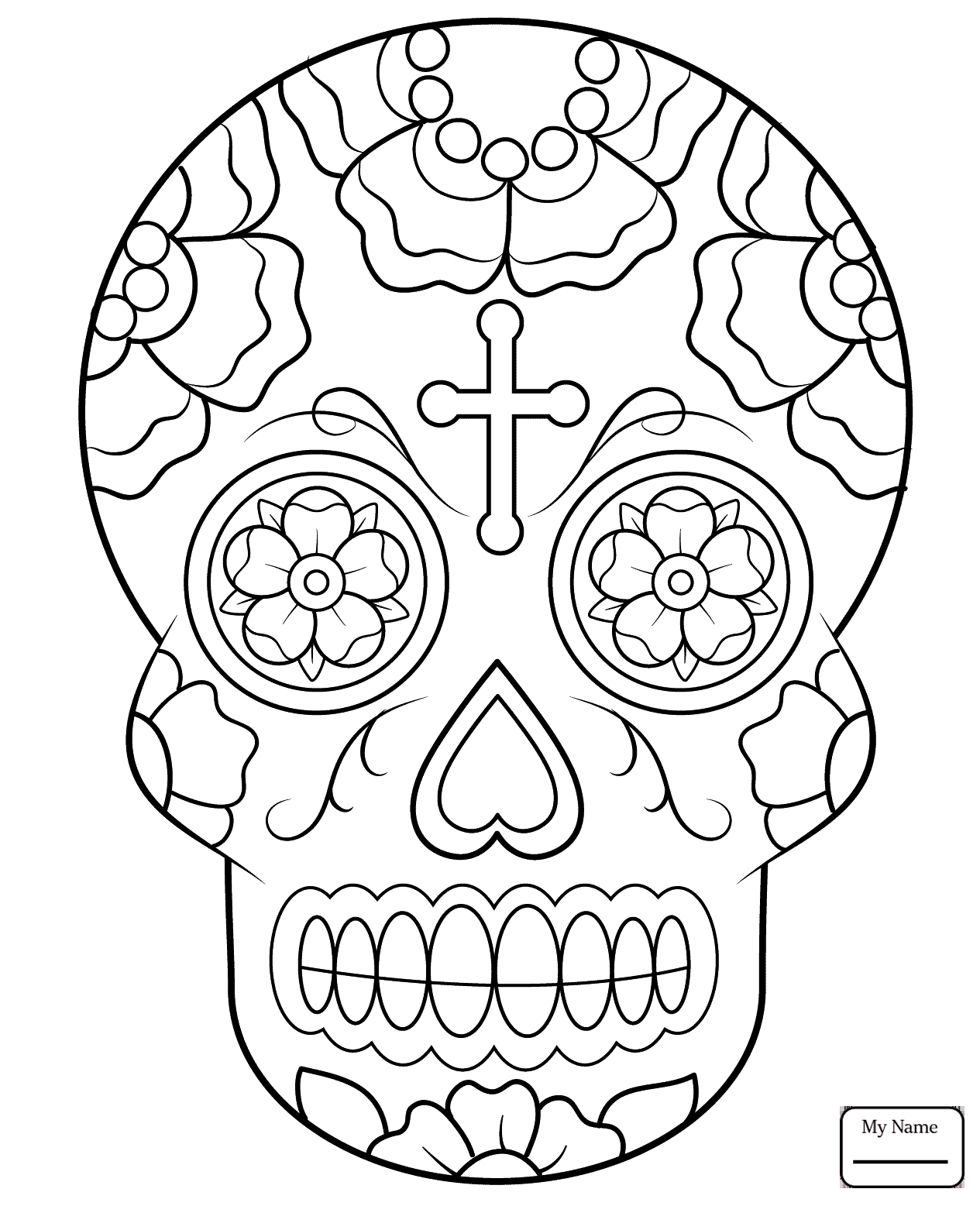 1265x1557 Coloring Pages For Kids Arts Culture Calavera Sugar Skull