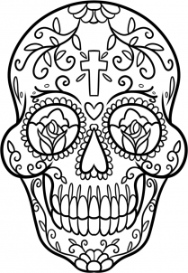 209x302 How To Draw A Candy Skull Step 11 Cool Drawings