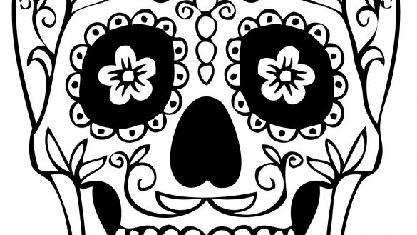 585x329 Coloring Book Sugar Skull Girl Pages For Kids 1028 Girls 1413x2000