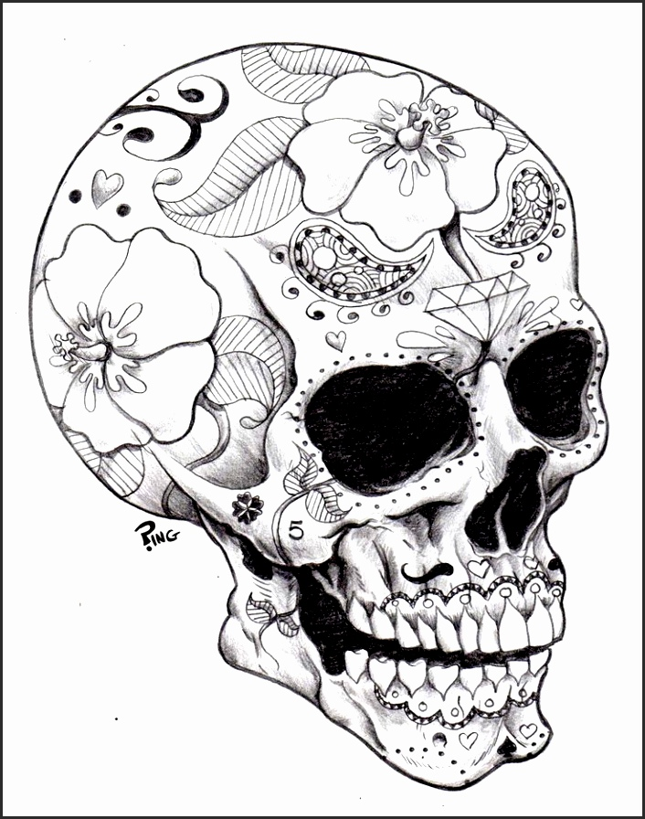 706x896 Day The Dead Skull Drawings Mbnlo Beautiful How To Draw Day