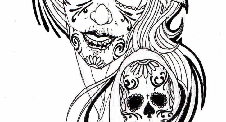Sugar Skull Tattoo Drawing