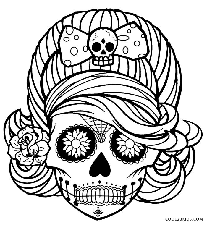 700x761 Sugar Skull Coloring Pages