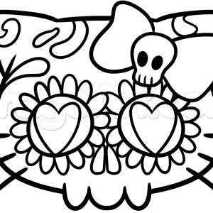 300x300 Adult Sugar Skulls Drawings Sugar Skull Tattoo Drawings. Drawings