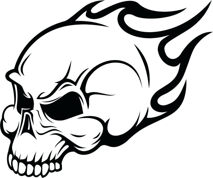 688x576 Coloring Pages Skulls Click The Skull With Wings In Flames