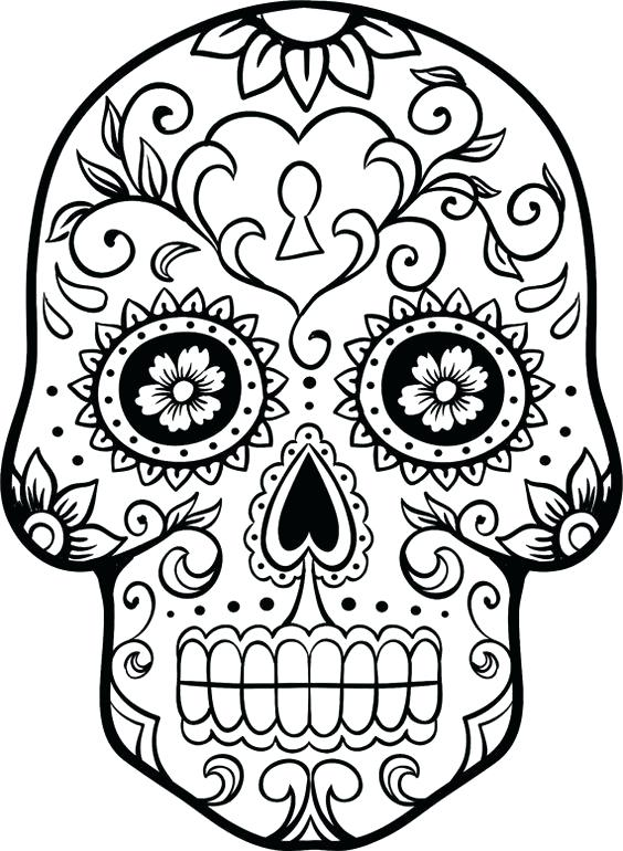 564x770 Coloring Pages Sugar Skulls Cool Colouring Pages Coloring Pages