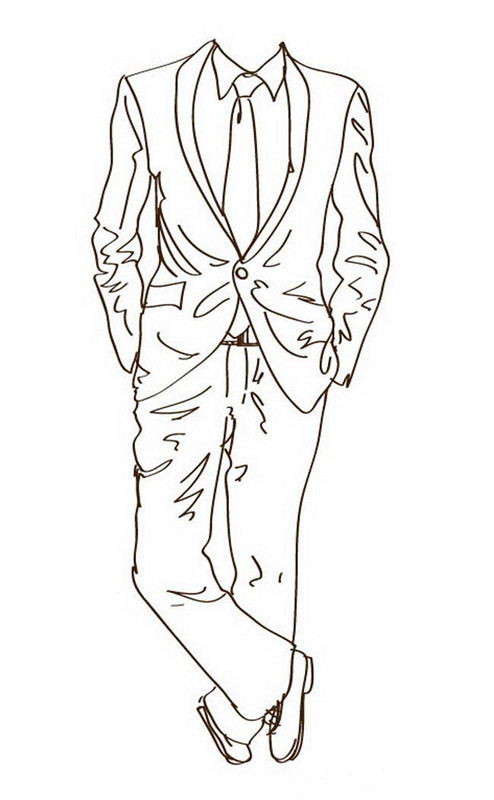 494x800 Latest Handsome Groom Wedding Suit Black Incision Lapel Best Man