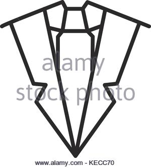 300x333 Man Suit With Tie Icon, Black Monochrome Style Stock Vector Art