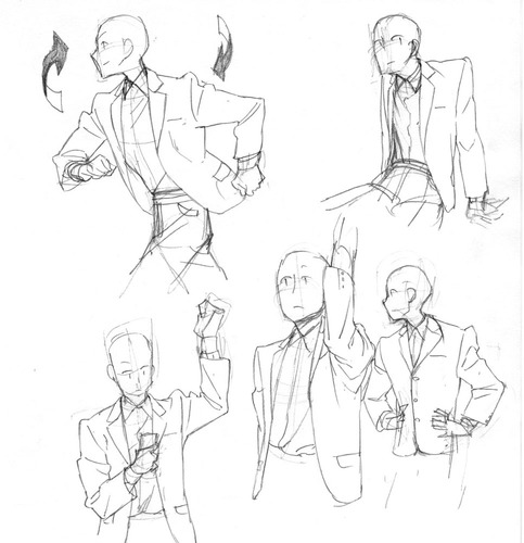 483x500 Stances With Suits Anime Art Pose, Drawings