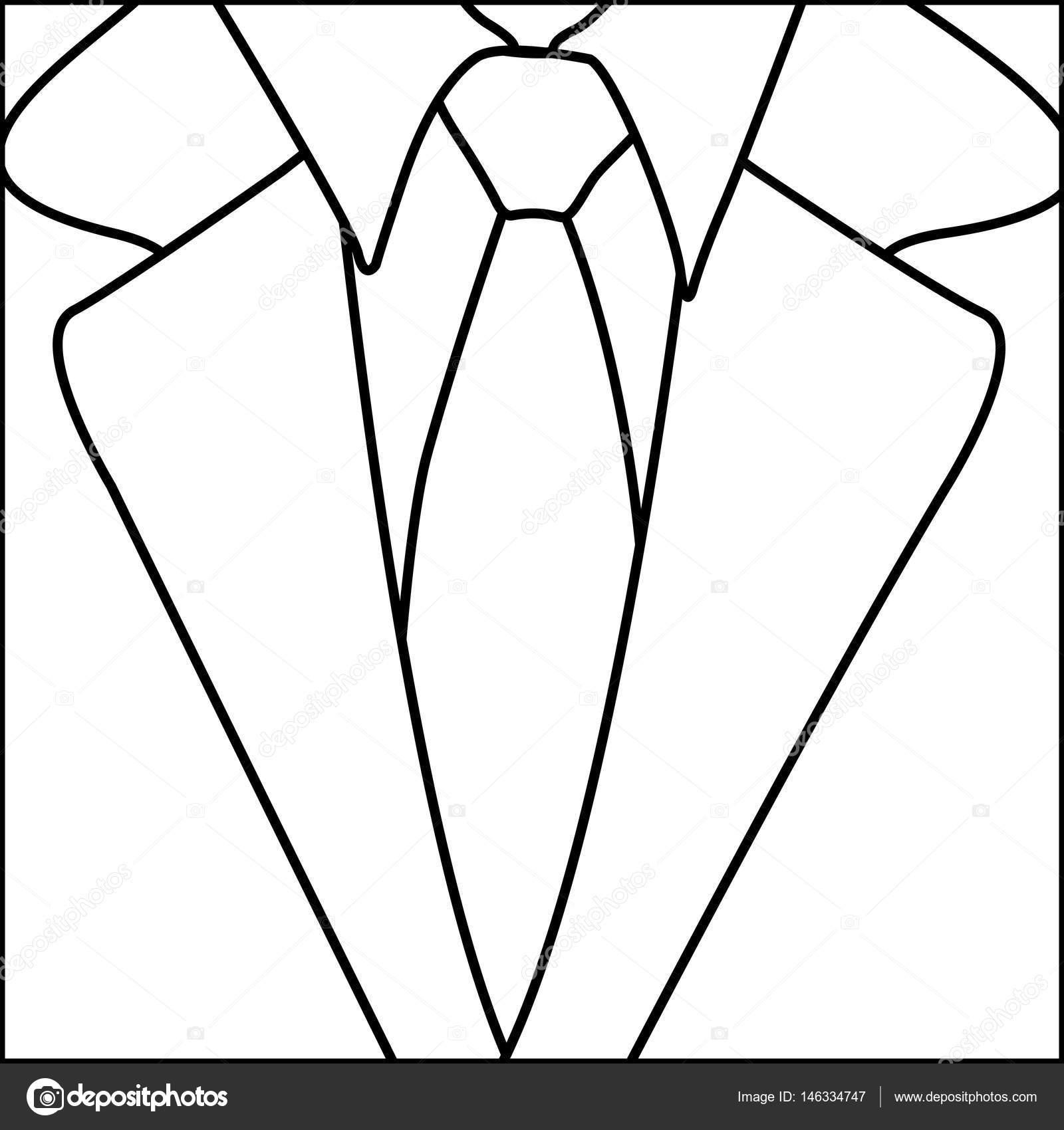 1600x1700 Figure Suit With Elegant Tie Icon Stock Vector Grgroupstock
