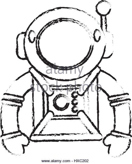 435x540 Drawing Astronaut Suit Helmet Space Stock Photos Amp Drawing