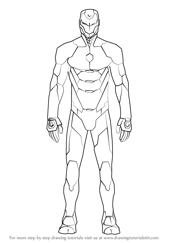 596x843 Learn How To Draw Iron Man Suit (Iron Man) Step By Step Drawing