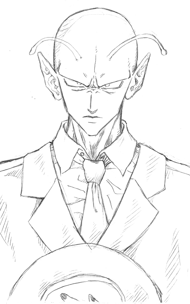 625x998 Piccolo In A Suit Sketch By Achrafuuu
