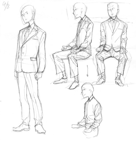 475x500 Suit Drawing Poses Drawing Folder Drawing Poses