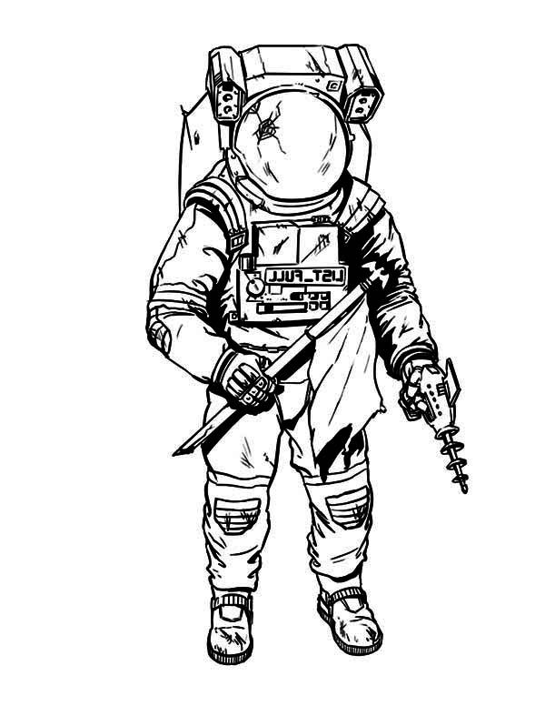 600x776 Space Suit Drawing