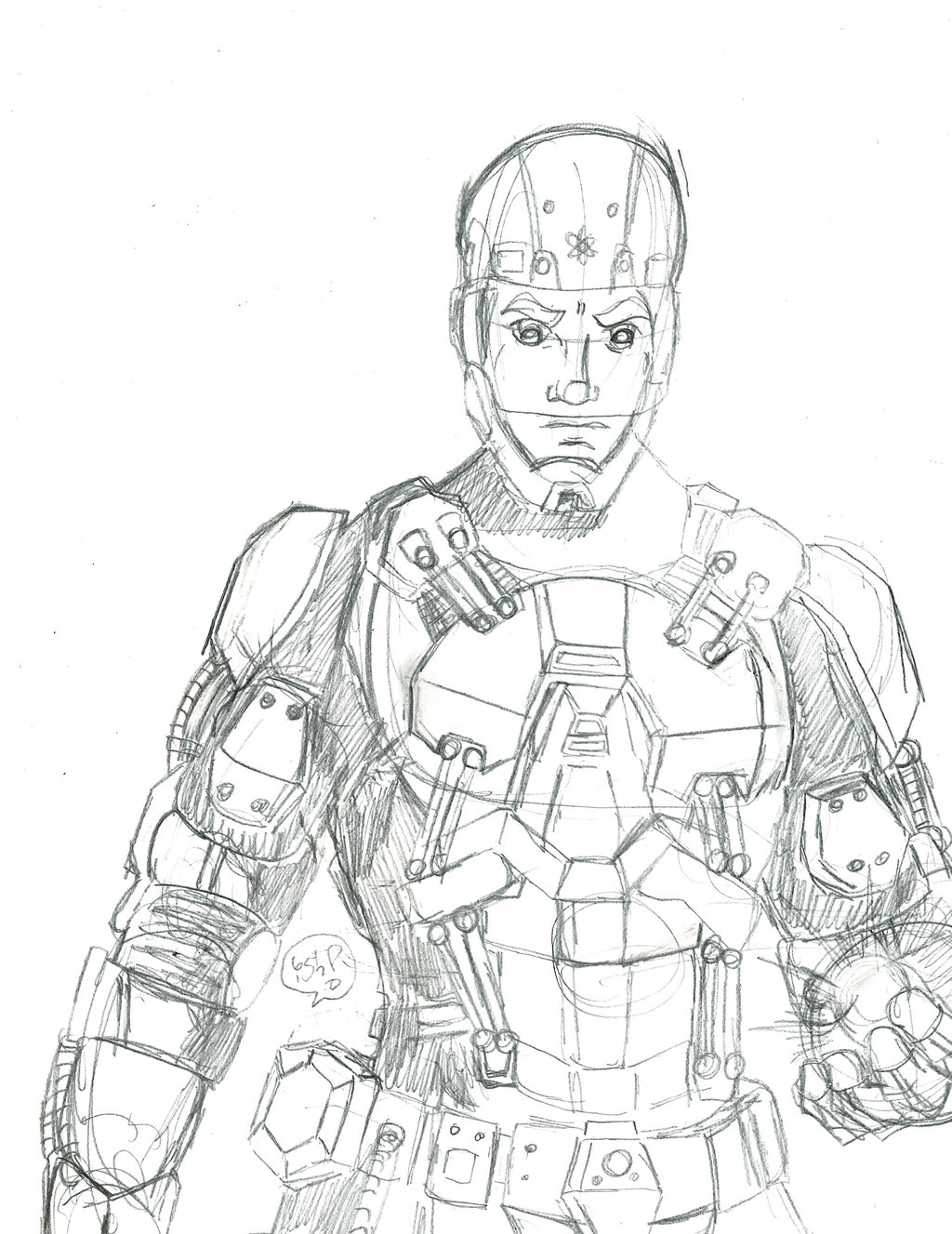 1024x1327 Atom From The Arrow Suit Sketch By Samayoa