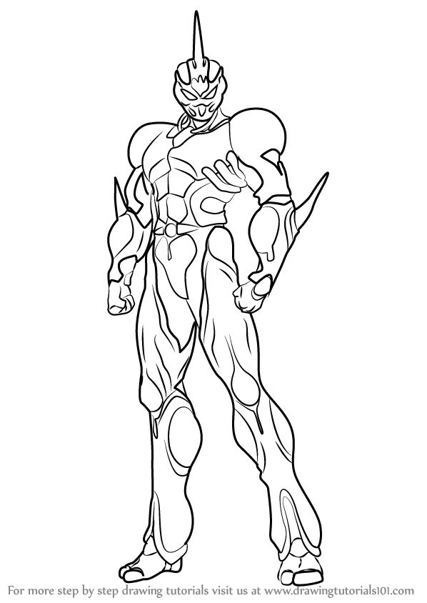 598x844 Learn How To Draw Guyver From Bio Booster Armor Guyver (Bio