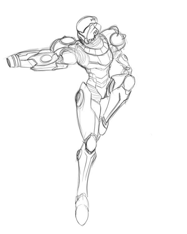 600x750 Samus Aran, Varia Suit Warmup By Transbot9