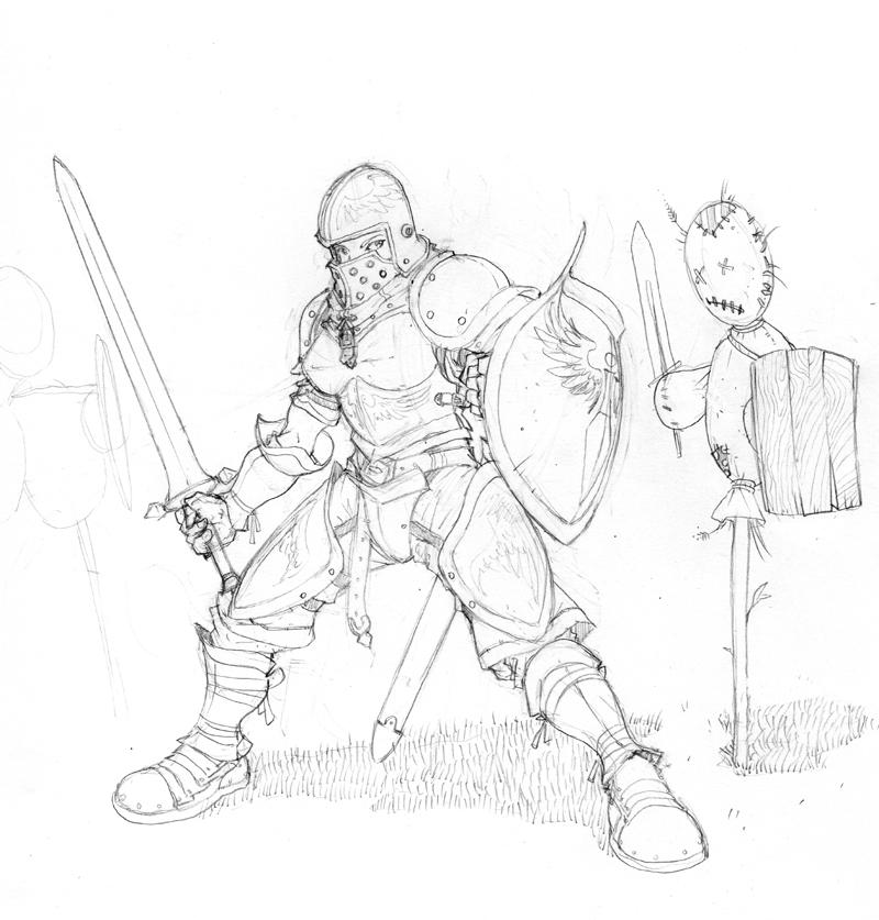 800x837 Sleeping Soldier Armor Design By Inkthinker