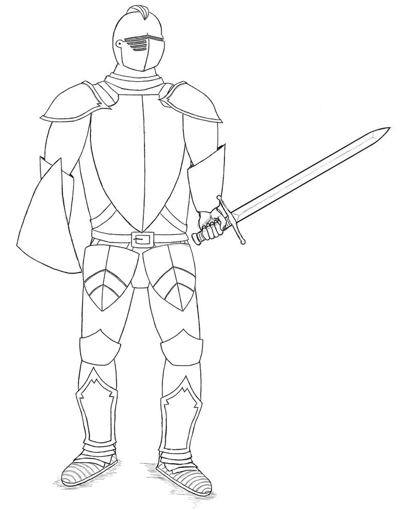 804x993 Suit Of Armour By Gingerbaron