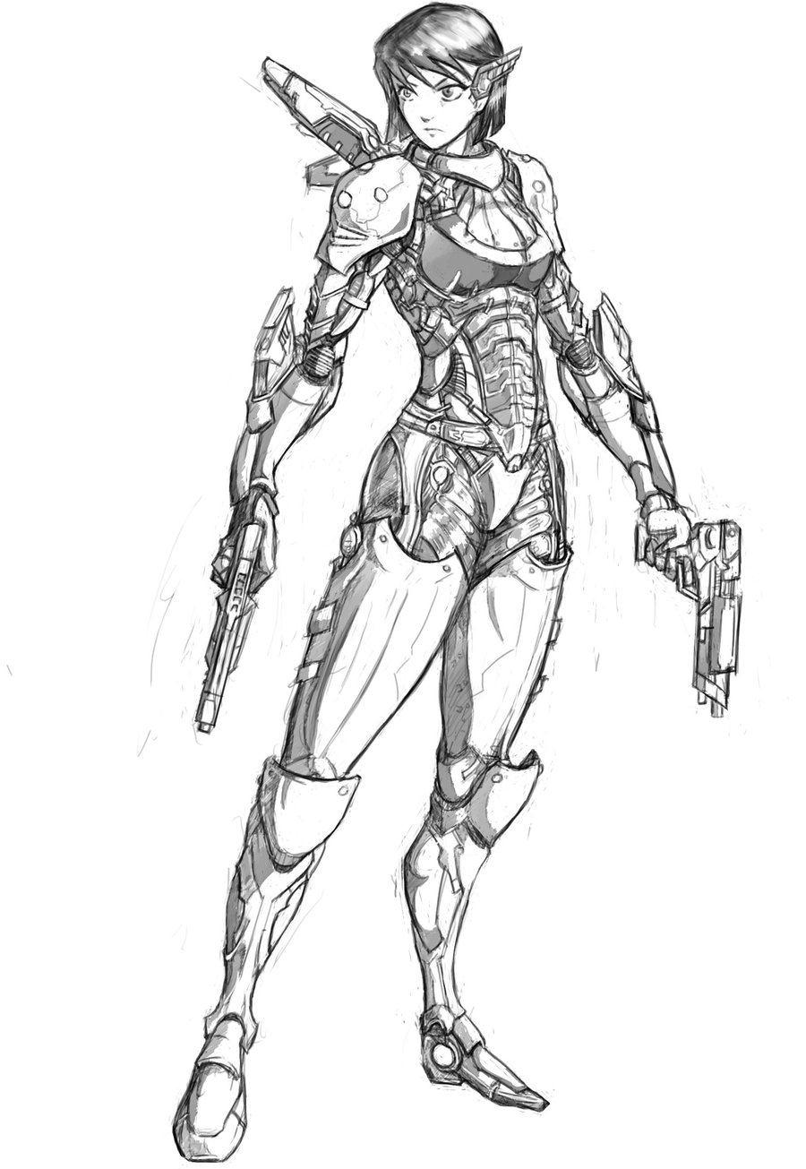 900x1305 Woman In Powered Armor By Rebirthofdougler111