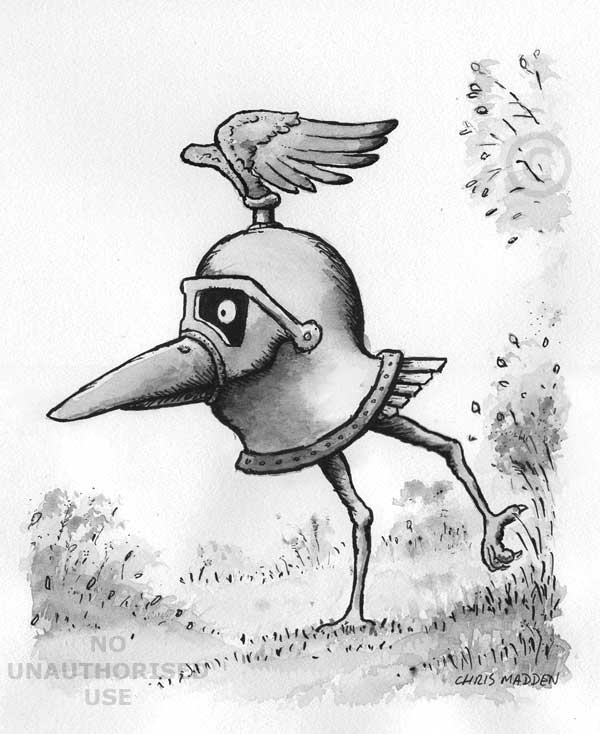 600x734 Bird In The Form Of The Helmet From A Suit Of Armour