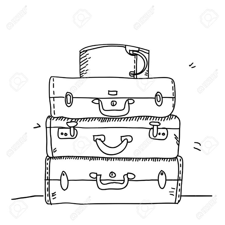Suitcase Drawing