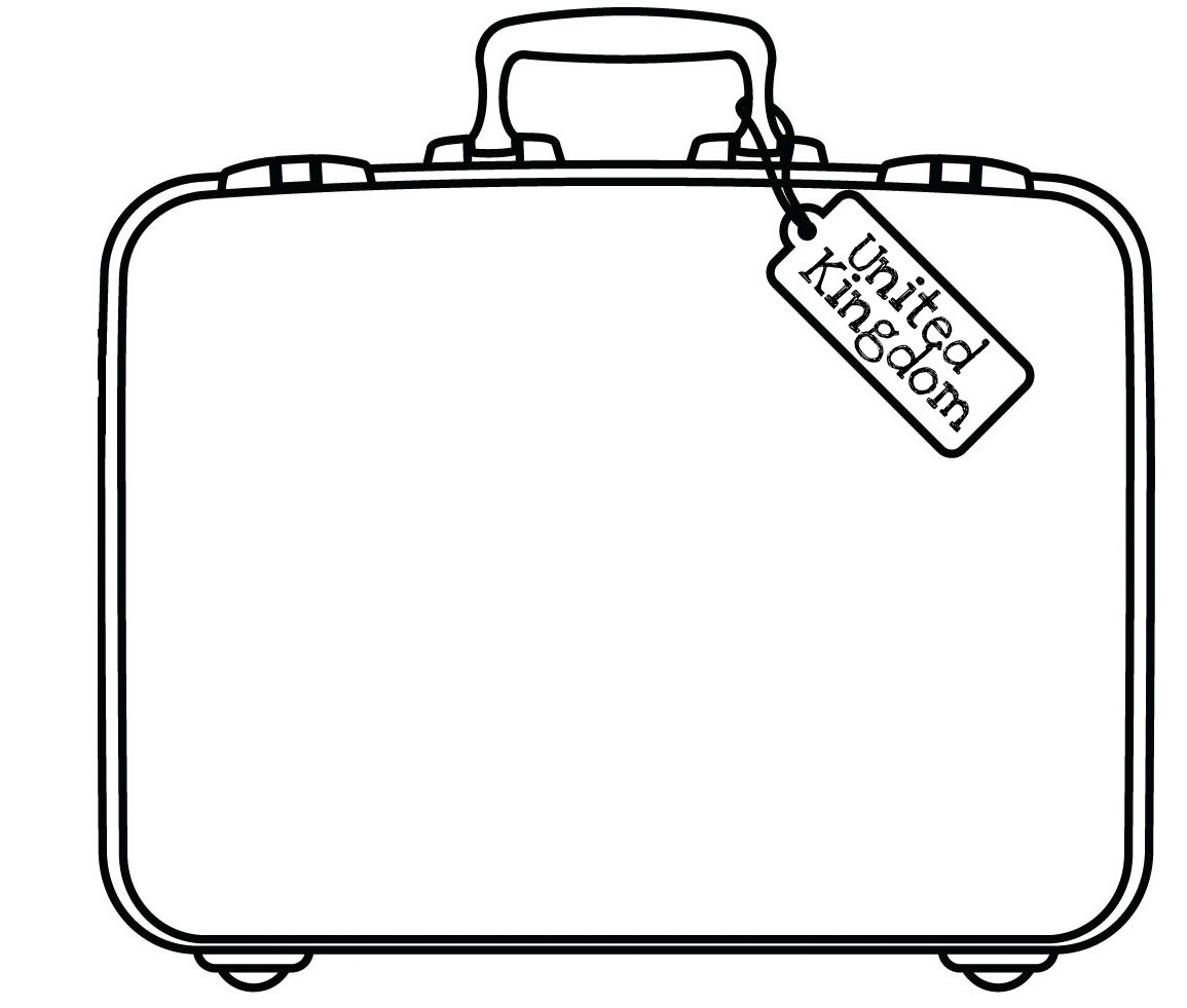 1155x981 Open Suitcase Coloring Page Open Suitcase Coloring Page