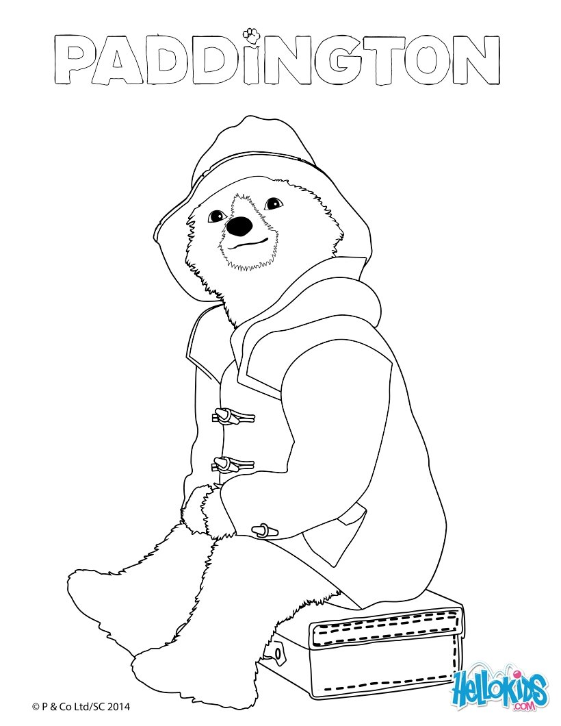 820x1060 Paddington Sitting On A Suitcase Coloring Pages