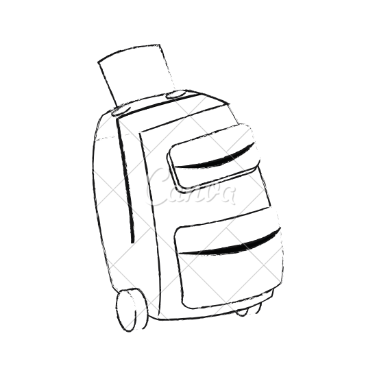 550x550 Suitcase With Wheels Icon Image
