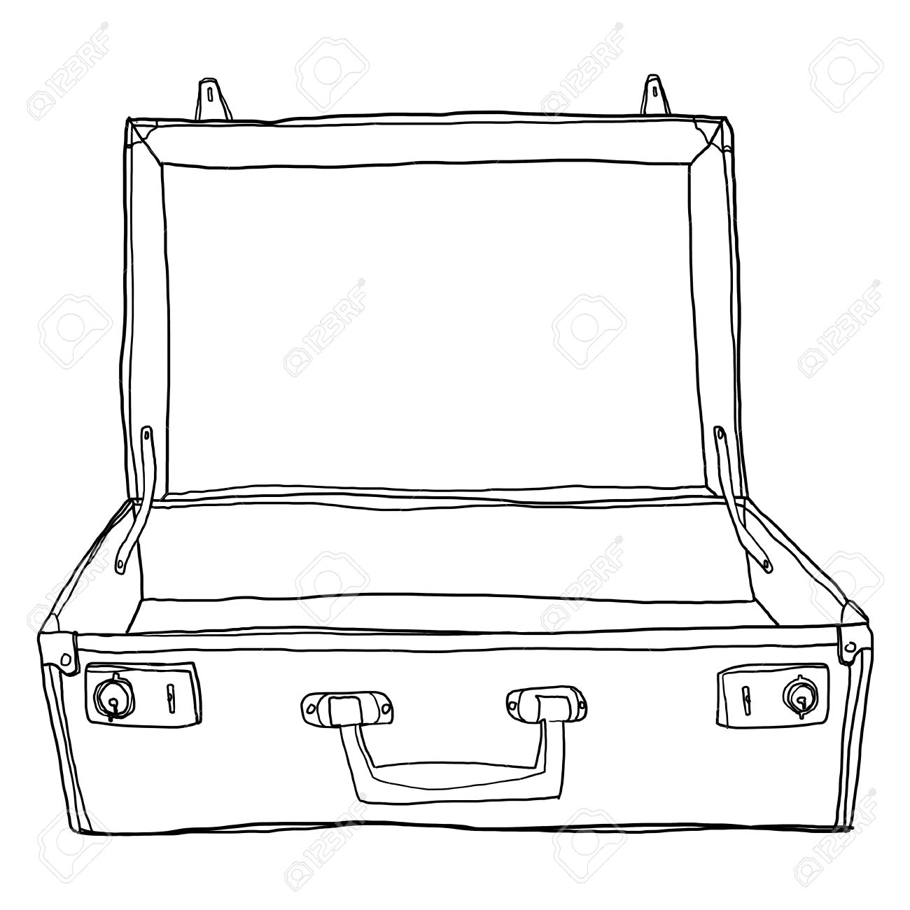Suitcase Drawing at GetDrawings.com | Free for personal use Suitcase ...