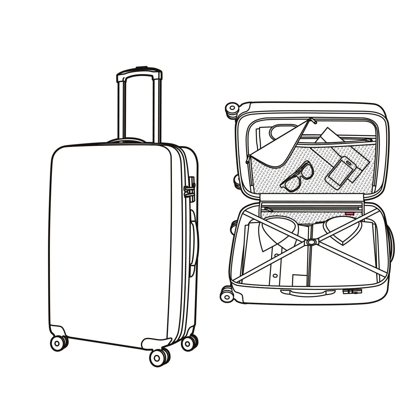 1400x1400 Suitcase Set Display (Suitcase, )