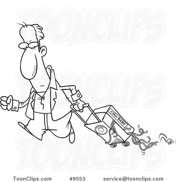 581x600 Cartoon Black And White Line Drawing Of A Guy Hauling Spaghetti