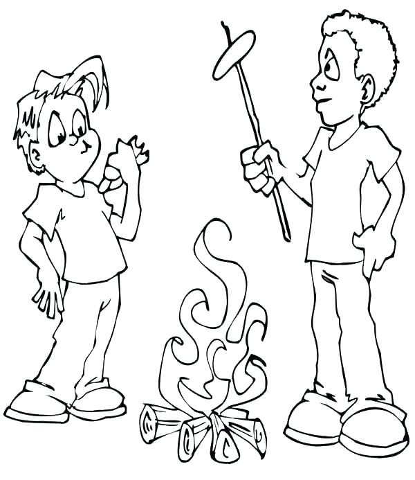 600x693 Camp Coloring Pages Camp Trail East Free Printable Summer Camp