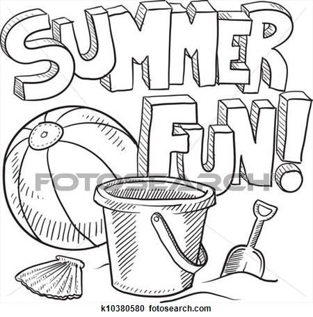 450x456 Summer Fun Black Clipart