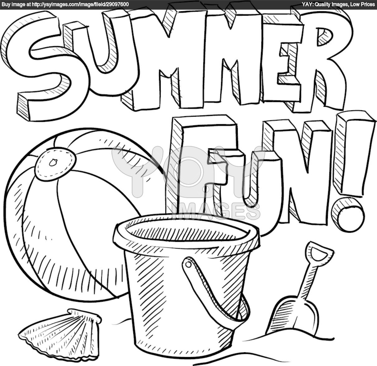 1210x1172 Summer Season (Nature) Printable Coloring Pages