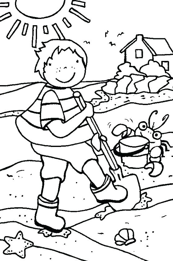 556x840 Kids Coloring Pages Summer View Beach Summer Free Coloring Pages