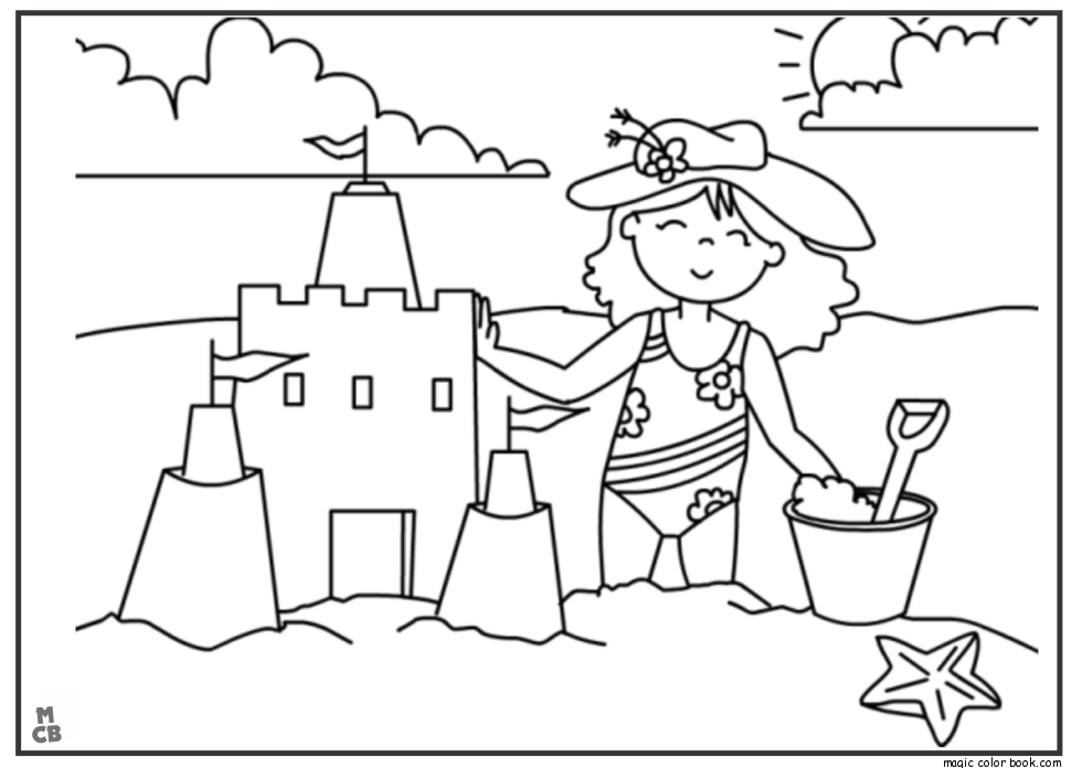 980x696 Summer Kids Coloring Pages 03